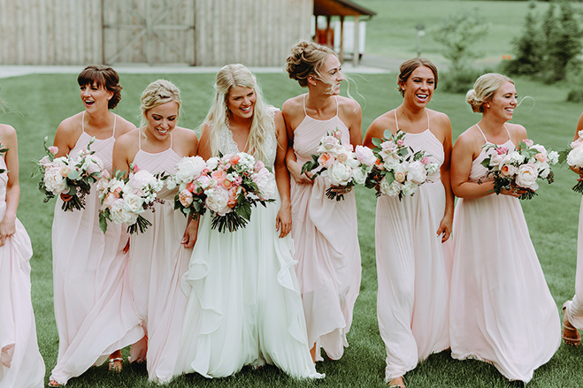 Kate and her bridesmaids at Creekside Farm Weddings & Events
