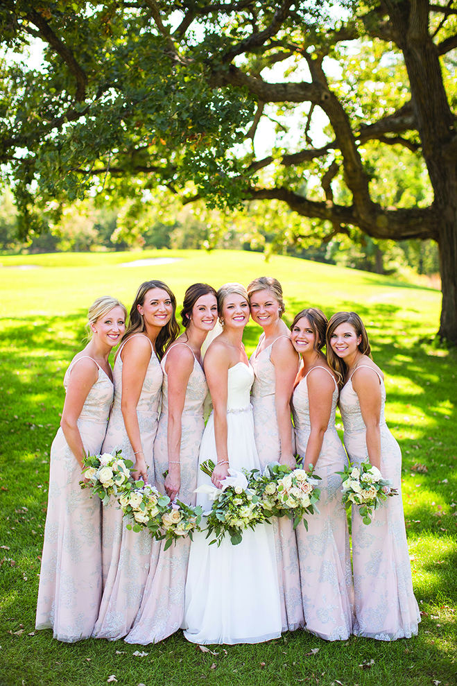 Paige and her bridesmaids at the Wayzata Country Club