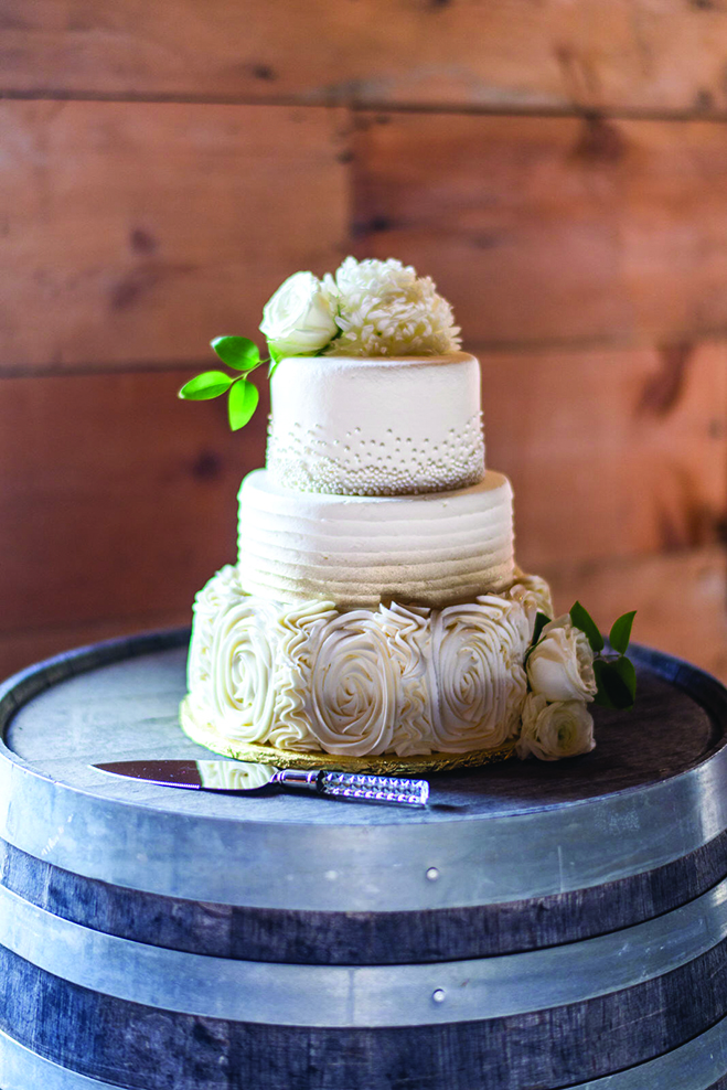 Taylor and John's wedding cake.