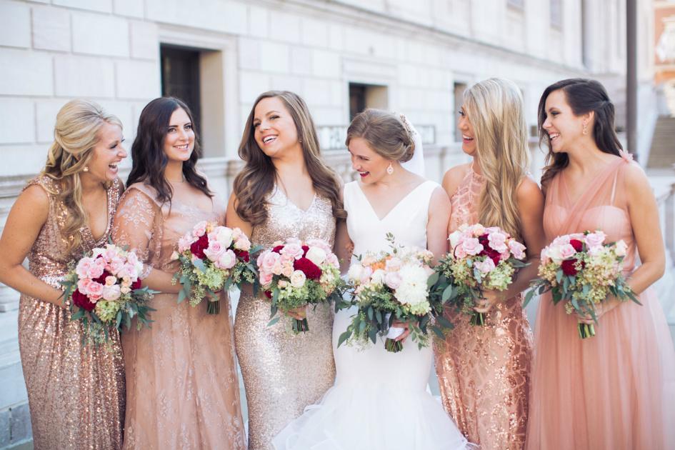 Bridal Party at the Saint Paul Hotel Minnesota
