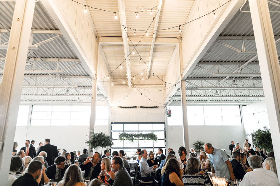 The Holden Room is 4,150 square feet and set up for weddings