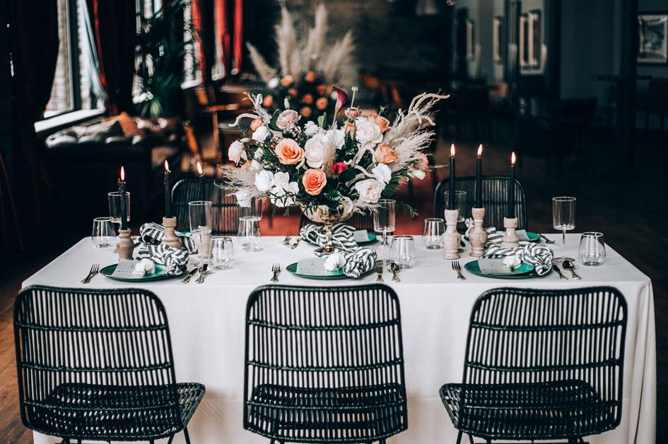 Dark Wedding Decor Minnesota