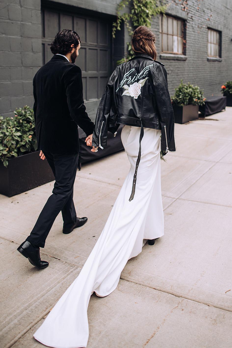 personalized calligraphy wedding jackets