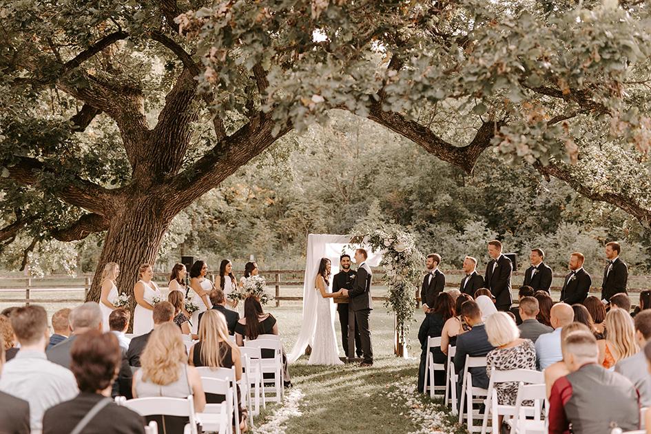 Nadeen and Cody marry at Mayowood Stone Barn
