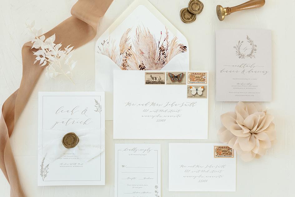 Natural wedding invitations from Paper Rock Scissor