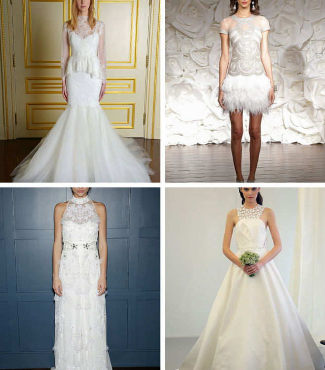 Looking Forward to Trends of 2015: High Collared Wedding Gowns ...