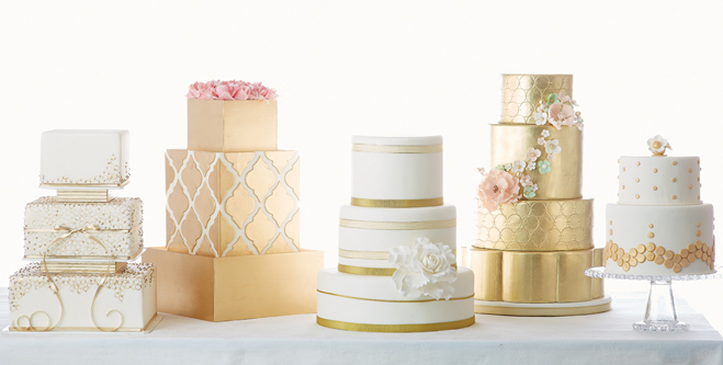 All That Glitters Gold Wedding Cakes Minnesota Bride - Gold Wedding Cakes