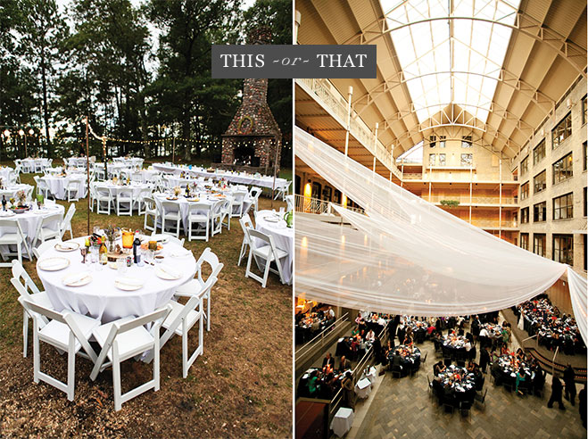 This or That Will You Host an Indoor or Outdoor Wedding Reception