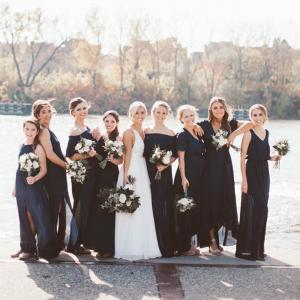 Bridal Party on Nicolette Island Minneapolis
