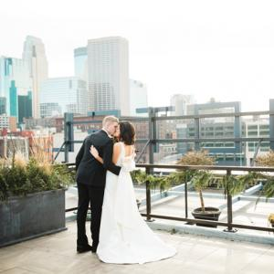Minnesota Wedding with Minneapolis Skyline