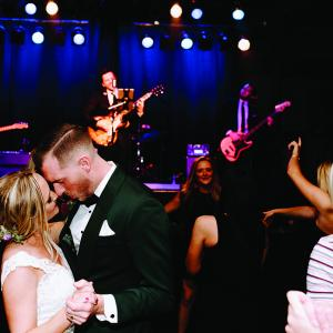 Minnesota wedding band Dirty Rotten Scoundrels play during a couple's reception.