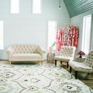 A pop-up bridal suite by Dream Day Dressing Rooms