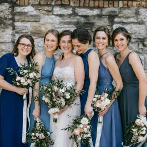 Bridal Party at the Nicollet Island Pavilion