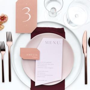 Burgundy wedding table setting