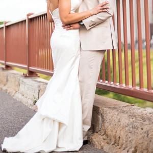 Stone Arch Bridge Wedding Photo