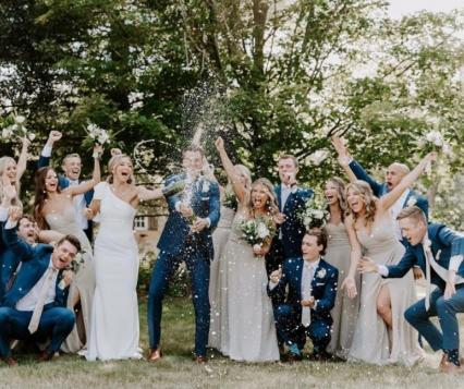 Photo by Lahzeh Photography with Bellagala, Bavaria Downs, Christina Ziemer Makeup Artist, Josh Moe and Ashley Skeie Events