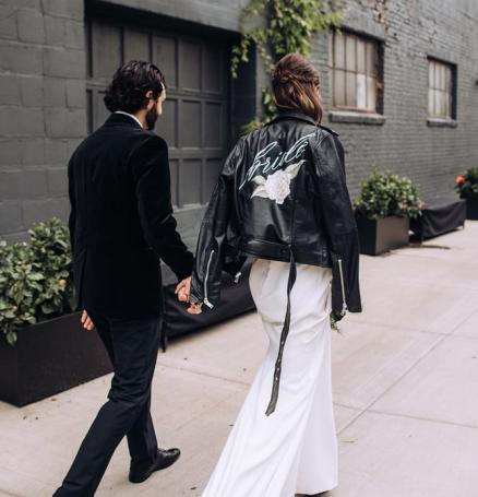 personalized calligraphy wedding jackets