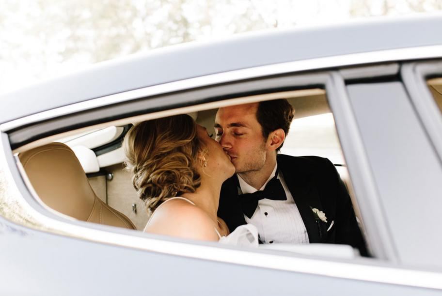 Elise and Seth shared their love on a glamorous day in an unconventional venue