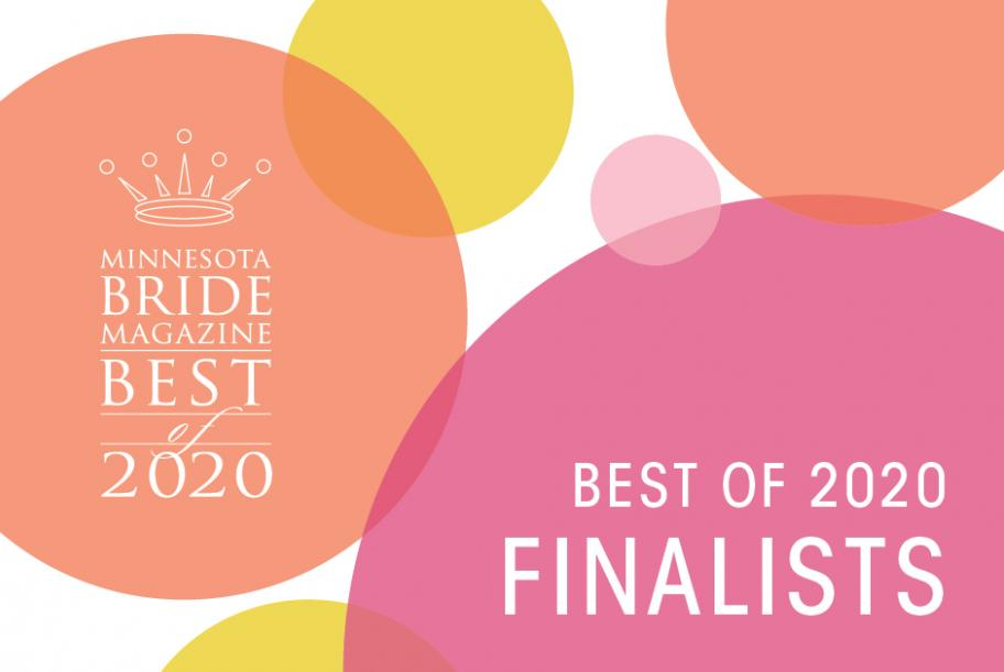 Minnesota Best of 2020 Finalists in pink and orange bubbles