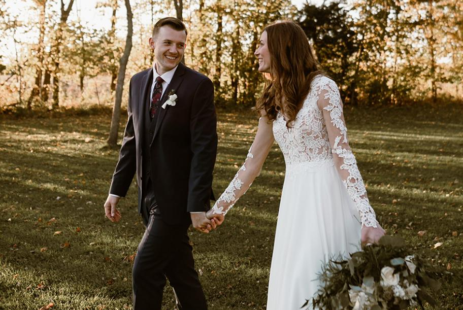 Megan and Matthew wed at Abella Weddings and Events Farm