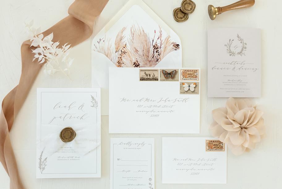 Natural wedding invitations from Paper Rock Scissor