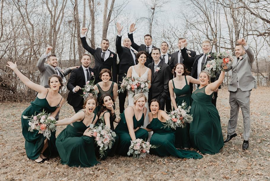 Carissa and James have an autumn wedding at Oak Ridge Country Club