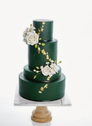 Emerald Green Wedding Cake Minnesota