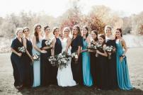Bridal Party at Nicollet Island in Minneapolis Minnesota