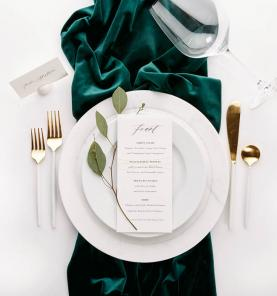Emerald Green Wedding Tableware Minnesota