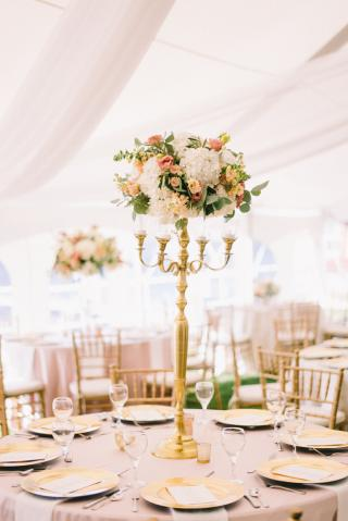 Wedding Centerpieces on East Gull Lake