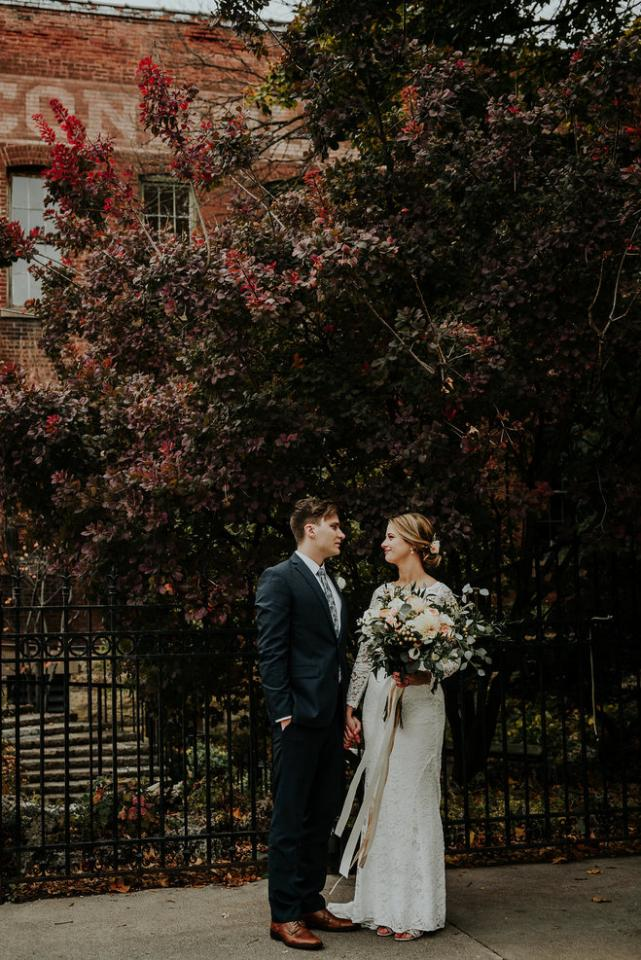Born and raised Minnesotans get married in Stillwater by the river