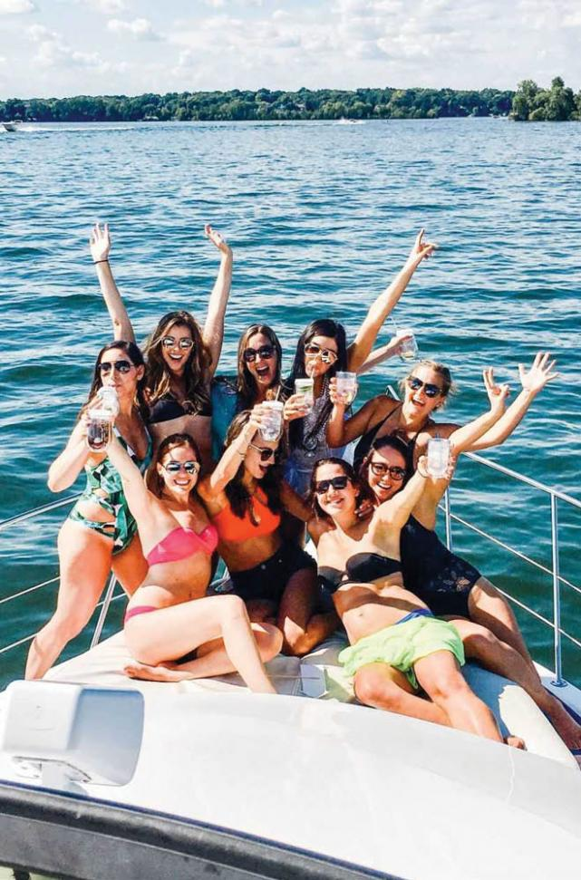 St. Croix River Girls on Boat