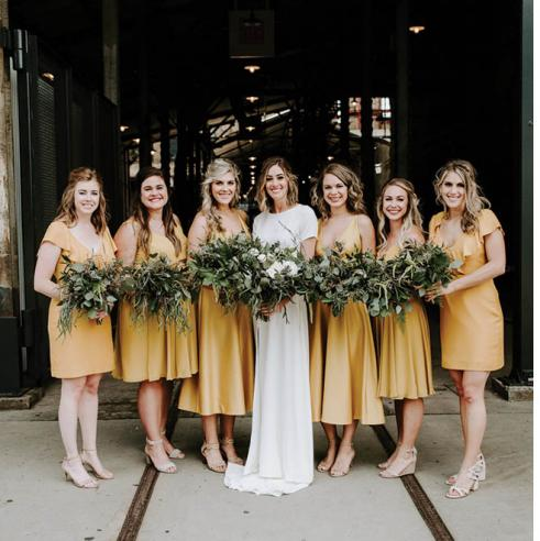 Short bridesmaid dresses for the modern bridal party