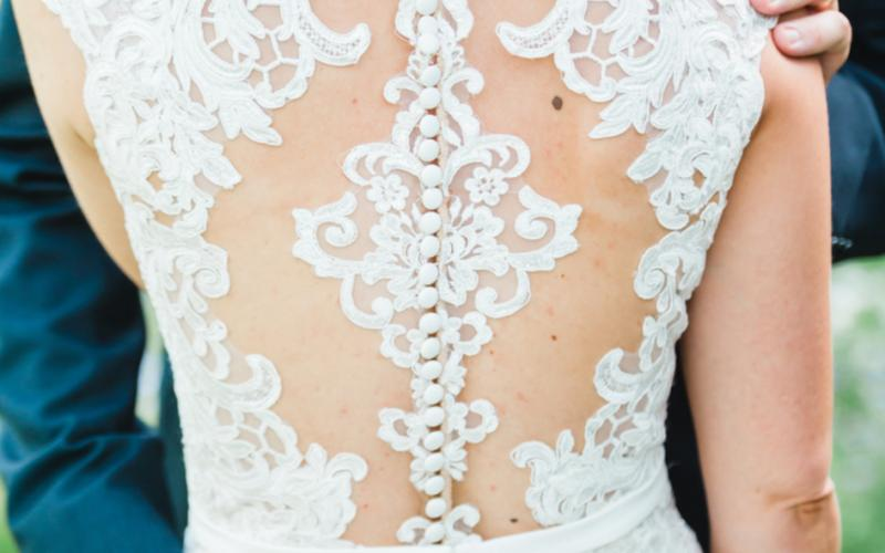 Beautiful Back of Wedding Dress