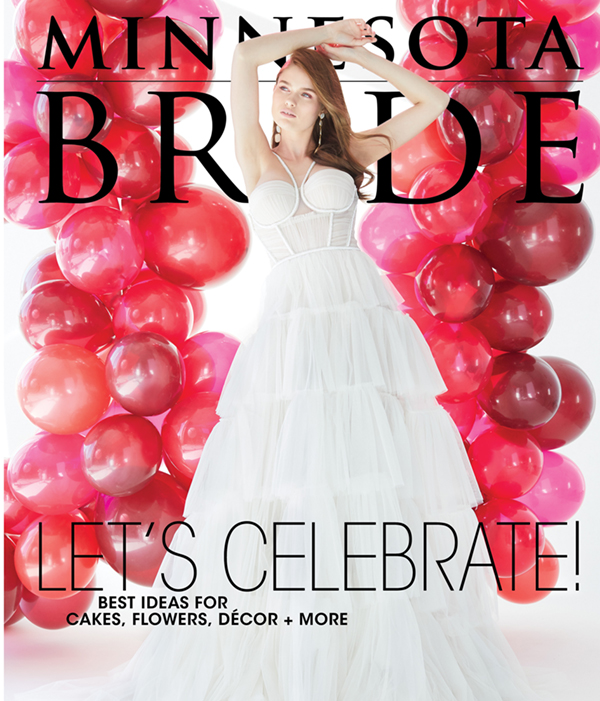 Minnesota Bride second spring summer cover with bride and red balloons