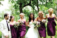 Bridesmaid dreses by Flutter Boutique. Photo by Cari McGlynn.