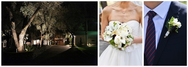 night time and bride groom