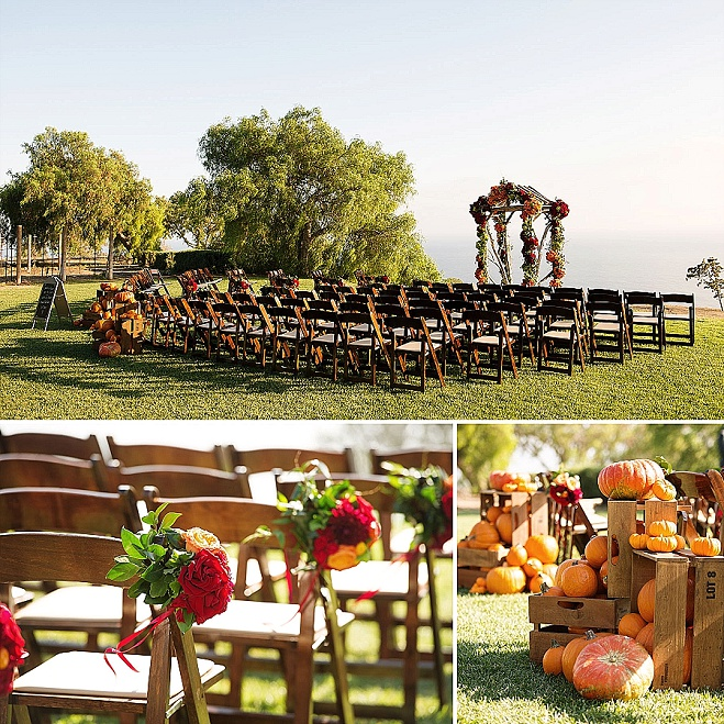 catalina view garden, los angeles wedding planner, fall wedding colors