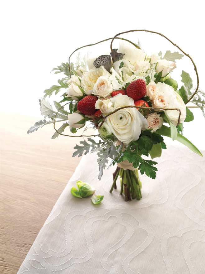 Avant Garden: Wedding Bouquets and Centerpieces Featuring Fruits and Vegetables