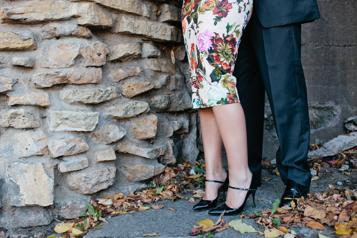 Minnesota Bride's Editor Sarah Baumann's engagement photos by Canary Grey Photography