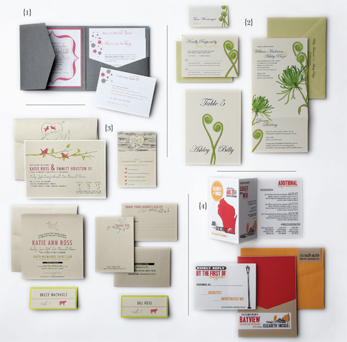 Tell your love story with an illustrated motif throughout your paper pieces.