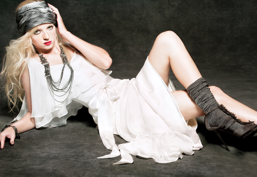 101ccc778af1 Black leather, heavy metal jewels and grungy accessories give classic bridal  gowns a rocker vibe