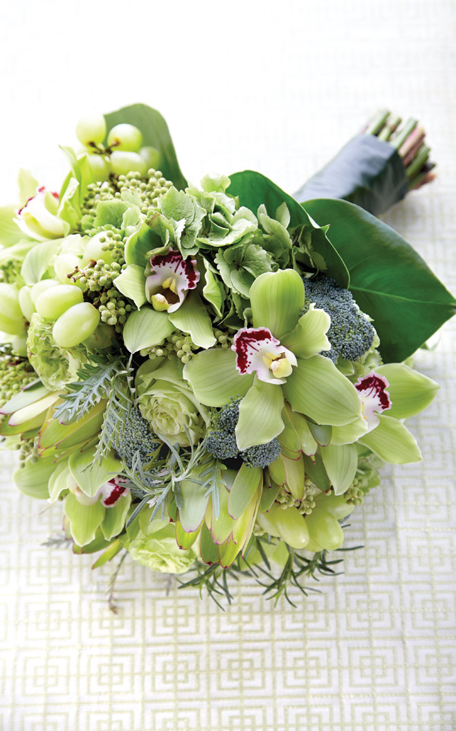 Wedding Bouquets and Centerpieces Featuring Fruits and Vegetables