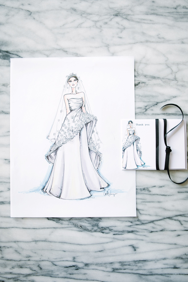 Couture Wedding Gown Illustrations by Cait Courneya