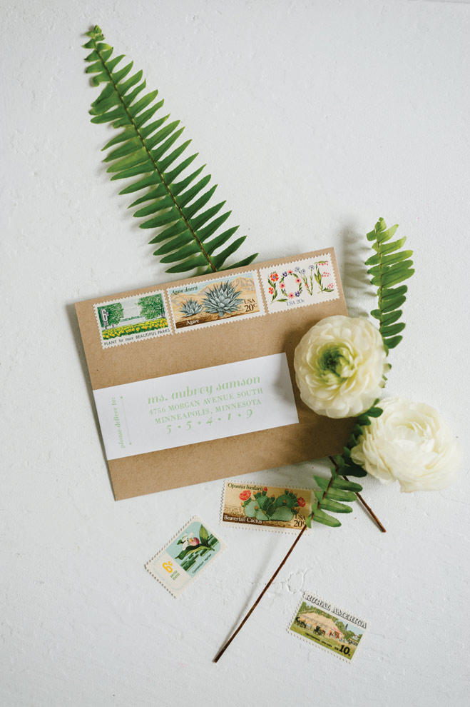 Wedding flowers by Munster Rose, photography by Jeff Loves Jess, cake by Cocoa & Fig, invitations by Paper, Rock, Scissor
