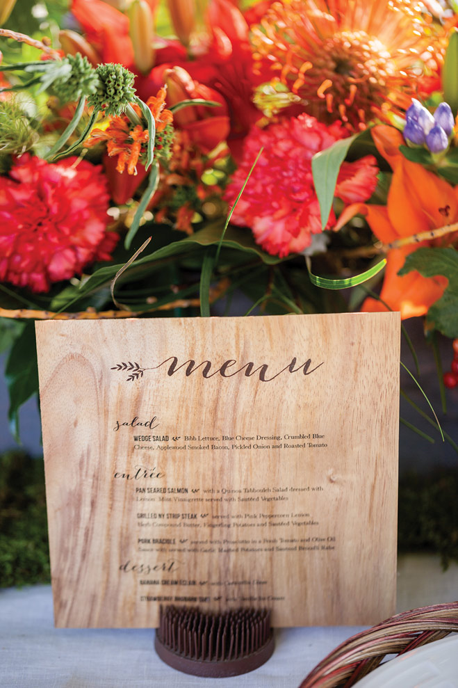 Colorful wedding decor and flowers, photo by Brooke Michaelson Photography