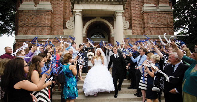 A Sparkling Blue and White Wedding in Minneapolis and St. Paul