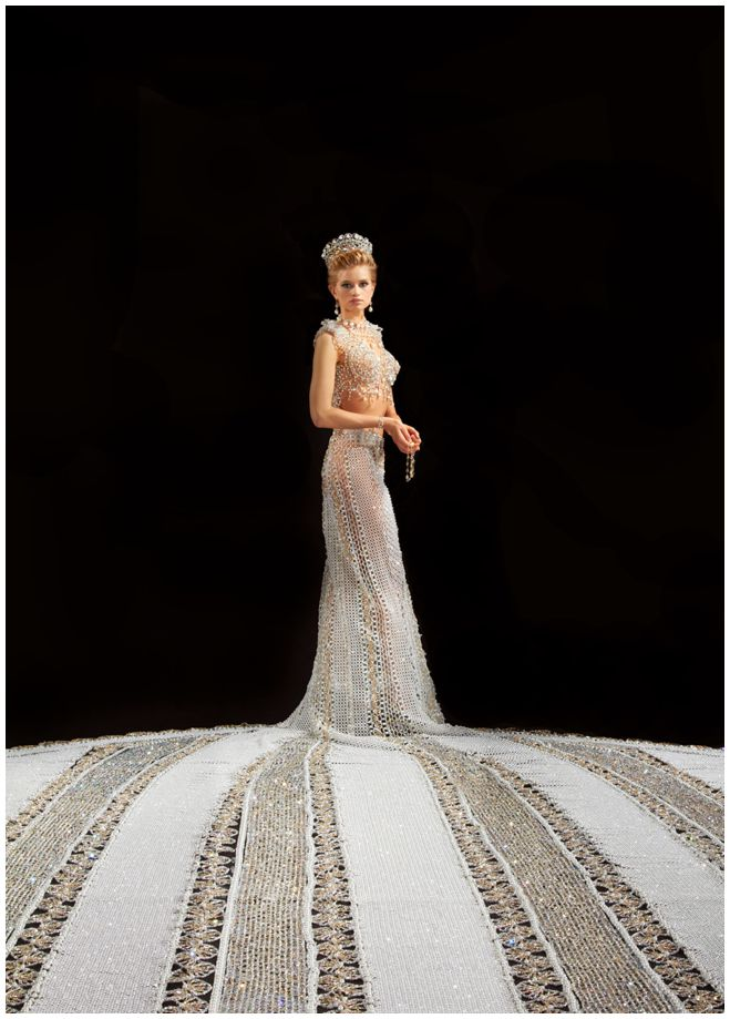 Fantasy The Largest Beaded Wedding Gown In The World
