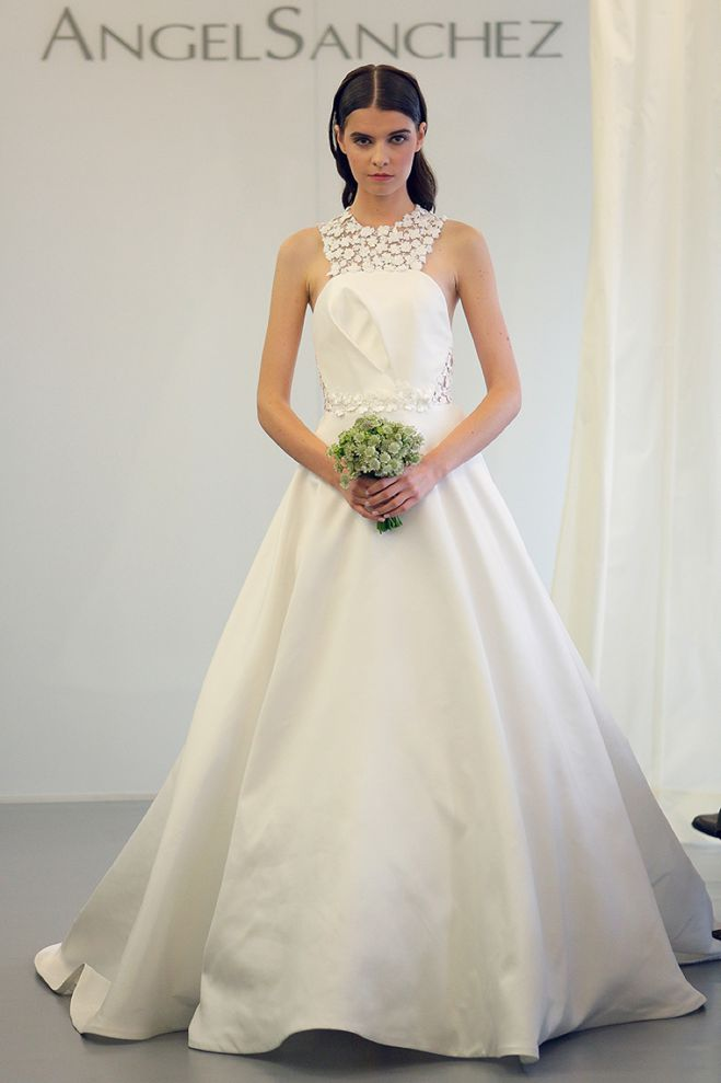 Looking Forward To Trends Of 2015 High Collared Wedding Gowns