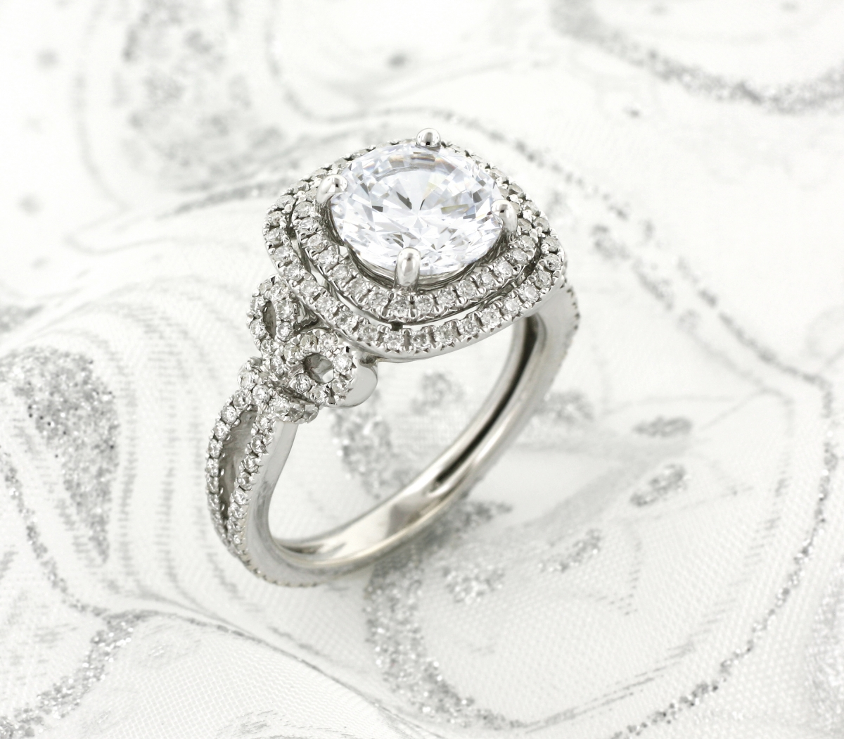 This Double Halo Design By Kirk Kara Is The Masterpiece Of Your Heart S Desire Each Mesmerizing Detail Designed To Provoke Love At First And